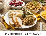 homemade turkey thanksgiving... | Shutterstock . vector #157931939
