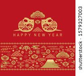 happy chinese new 2020  year ... | Shutterstock .eps vector #1579327003
