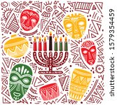 happy kwanzaa. hand drawn... | Shutterstock .eps vector #1579354459