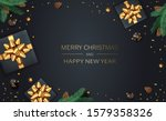 christmas balls  holiday gifts... | Shutterstock .eps vector #1579358326