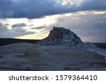 Firehole Lake Silhouette At...