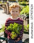 Cute Child At Plant Nursery...