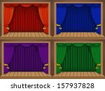 Set Of A Theater Stage With...