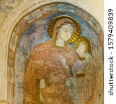 Romanesque Mural Painting Of...