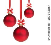 Three Red Christmas Balls...