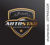 car showroom logo design. car ... | Shutterstock .eps vector #1579431229