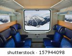 interior of train and mountains ... | Shutterstock . vector #157944098