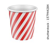 white red disposable paper cup. ... | Shutterstock .eps vector #157944284