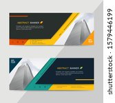 vector abstract header and...   Shutterstock .eps vector #1579446199