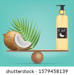 compare coconut and balance... | Shutterstock .eps vector #1579458139