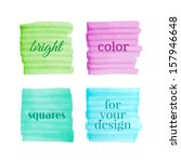 color squares drawn with... | Shutterstock .eps vector #157946648