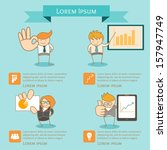 business man infographic... | Shutterstock .eps vector #157947749