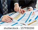 business accounting  | Shutterstock . vector #157950200