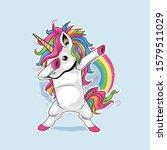 unicorn cute dabbing style...   Shutterstock .eps vector #1579511029