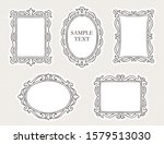 hand drawn baroque style frame... | Shutterstock . vector #1579513030