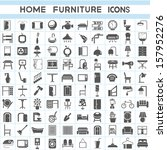 home furniture icons set | Shutterstock .eps vector #157952276