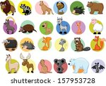 set of cartoon animals | Shutterstock .eps vector #157953728