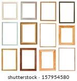 set of vertical picture frames...   Shutterstock . vector #157954580
