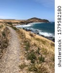 View from the Heysen Trail at King's Beach near Victor Harbour, South Australia