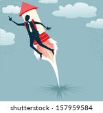 abstract businessman jets off... | Shutterstock .eps vector #157959584