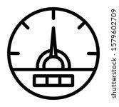 speedometer icon outline vector ...