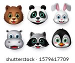animals emoji and emoticon... | Shutterstock .eps vector #1579617709