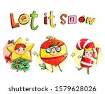 christmas postcard with... | Shutterstock . vector #1579628026