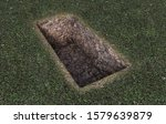 An Open Empty Grave Dug Out Of...