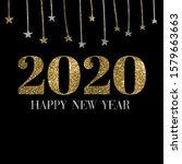 Happy New Year 2020  Golden...