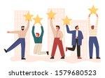 bundle of man holding stars on...   Shutterstock .eps vector #1579680523
