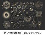 vector illustration set of moon ...   Shutterstock .eps vector #1579697980