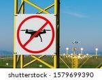 No Drone Zone At Airport Runway....