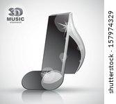 trendy metallic slim musical...   Shutterstock .eps vector #157974329