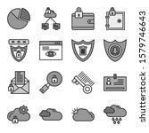 universal modern icon sheet for ... | Shutterstock . vector #1579746643