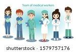 set of cartoon character doctor ... | Shutterstock .eps vector #1579757176