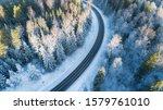 Winding Winter Road As Seen...