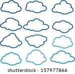 clouds | Shutterstock .eps vector #157977866