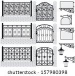 Set Of Iron Wrought Fences ...