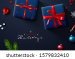 christmas background  banner ... | Shutterstock .eps vector #1579832410