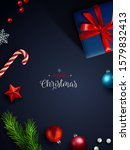 christmas background  banner ... | Shutterstock .eps vector #1579832413