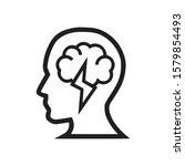 brainstorm icon on white... | Shutterstock .eps vector #1579854493