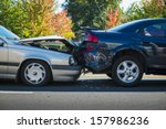 auto accident involving two... | Shutterstock . vector #157986236