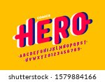 comics style font  super hero... | Shutterstock .eps vector #1579884166
