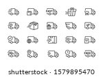 set of delivery truck icons. ... | Shutterstock .eps vector #1579895470