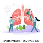 the concept of pulmanology....   Shutterstock .eps vector #1579937539