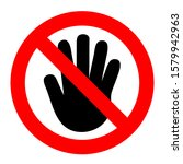 symbol for prohibition don't... | Shutterstock .eps vector #1579942963