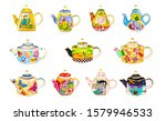 Brewing Teapot Set Isolated On...