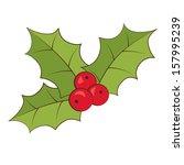 vector holly | Shutterstock .eps vector #157995239