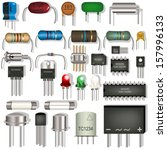 vector electronic components   Shutterstock .eps vector #157996133