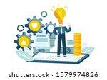 businessman generates idea to... | Shutterstock .eps vector #1579974826